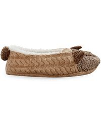 Hue Faux Fur-lined Slippers - Multicolour
