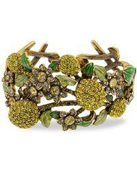 Heidi Daus Women's A Lot Of Lemons Crystal Floral Cuff Bracelet - Metallic