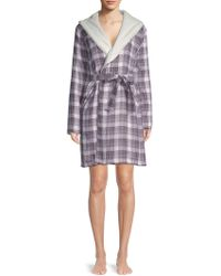 UGG - W Anika Plaid Cotton Robe - Lyst