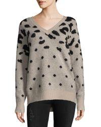 John + Jenn Leopard Pattern Sweater - Multicolour