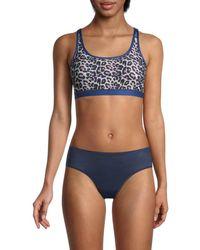 WEAR IT TO HEART Women's Cheetah-print Sports Bra - Optimistic - Size Xs - Multicolor