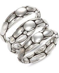 John Hardy 3-piece Sterling Silver Stackable Ring Set - Metallic