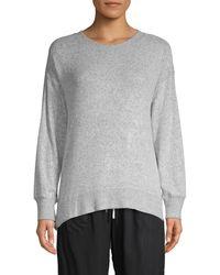 Natori Heathered Long-sleeve Sweatshirt - Grey