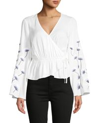 Cupcakes And Cashmere Embroidered Floral Top - White