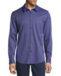 Calvin Klein - Embroidered Cotton Button-down Shirt - Lyst