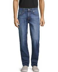 True Religion Geno Relaxed Slim-fit Faded Jeans - Blue