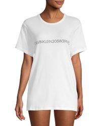 CALVIN KLEIN 205W39NYC - Logo Cotton Sleepshirt - Lyst