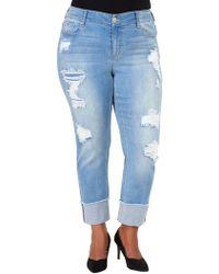 Seven7 - Plus Hi-cuff Slim-fit Jeans - Lyst