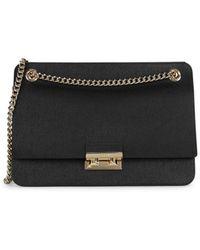 Furla Textured Leather Chain Shoulder Bag - Black