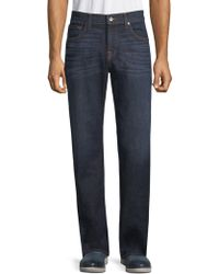 7 For All Mankind - Austyn Contrast-stitched Jeans - Lyst