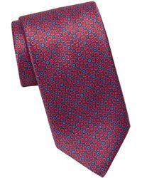 Brioni Patterned Silk Tie - Blue