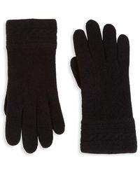 Portolano Women's Textured Cashmere Gloves - Grey