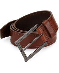 Tumi - Stitched Leather Belt - Lyst