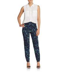 Proenza Schouler Printed Crepe Pants - Blue
