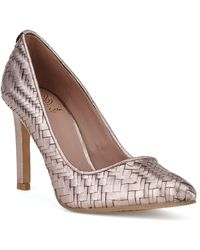 Elliott Lucca - Woven Leather Point Toe Court Shoes - Lyst