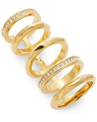 CC SKYE - Faceted Hinged Cage Ring - Lyst