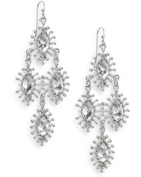 Nine West - Sparkling Star Drop Earrings - Lyst