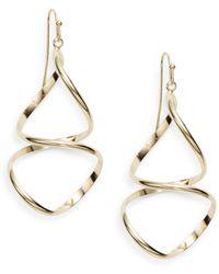 Nine West - Abstract Goldtone Drop Earrings - Lyst