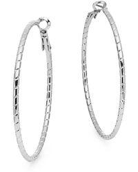 Nine West - Textured Hoop Earrings - Lyst