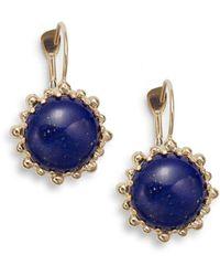 Anzie - Dew Drop Lapis & 14k Yellow Gold Earrings - Lyst