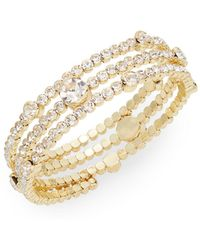 Cara - Rhinestone Coil Bracelet - Lyst