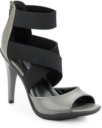 Kenneth Cole Reaction - Rhye Leather & Textile Sandals - Lyst