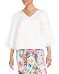 Eci - Flutter Sleeve Top - Lyst