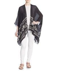 Saks Fifth Avenue Black Label - Embroidered Kimono Jacket - Lyst