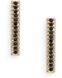 BCBGeneration - Pavé Bar Earrings - Lyst