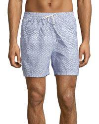 Ferragamo Sailboat Printed Shorts - Blue