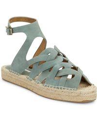 Cynthia Vincent Pebbles Suede Sandals - Gray