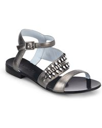 DANNIJO - Riles Crystal Leather Sandals - Lyst