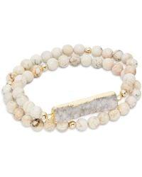 Elise M Nola Double Wrap Bracelet - White