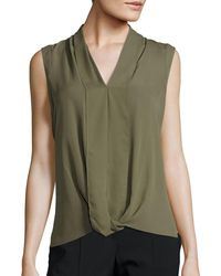 Chaus New York - Sleeveless Solid Blouse - Lyst