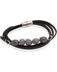 Punch - Dyed Jade Leather Wrap Bracelet - Lyst