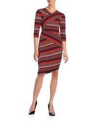 Eci - Striped Sheath Dress - Lyst