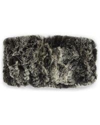 Saks Fifth Avenue Knitted Rabbit Fur Headband - Multicolor