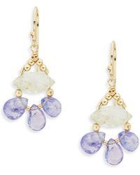 Eva Hanusova - Gem Rush Green Amethyst, Tanzanite & 14k Gold Fill Drop Earrings - Lyst