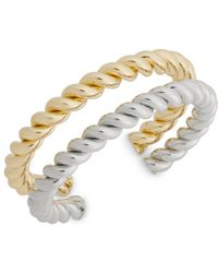 Punch - Two-tone Twisted Bracelet - Lyst