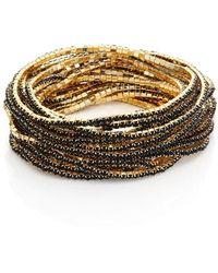 ABS By Allen Schwartz - Faceted Stretch Bracelets/set Of 20 - Lyst