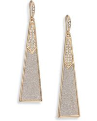 ABS By Allen Schwartz - Gold Coast Glitter Triangle Drop Earrings - Lyst