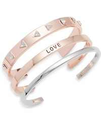 BCBGeneration - Slip-on Cuff Bracelet - Lyst