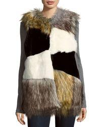 Steve Madden - Faux Fur Sleeveless Vest - Lyst