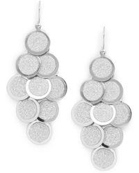 Punch - Glittered Disc Chandelier Earrings - Lyst