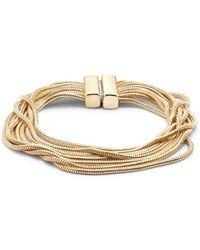 Punch - Multi-strand Snake Chain Bracelet - Lyst