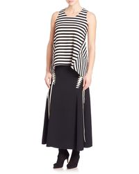 Derek Lam - Mid Length Skirt With Lace Detail - Lyst