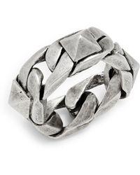 Valentino - Uomo Chain Ring - Lyst