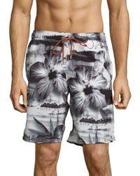 Bugatchi - Floral Print Swimwear - Lyst