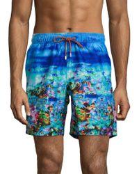 Bugatchi - Ocean Print Swimwear - Lyst