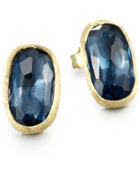 Marco Bicego - 18k Yellow Gold & Diamond Stud Earrings - Lyst